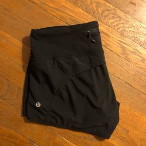 "Black lululemon speed up shorts ""4"
